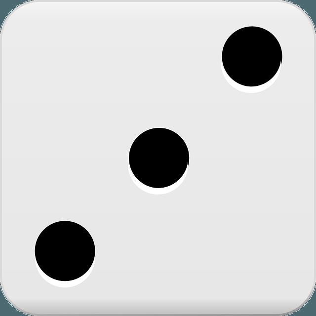 dice, roll, three